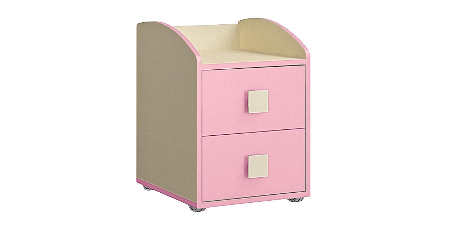 Тумба прикроватная Нова (бежевый/розовый)