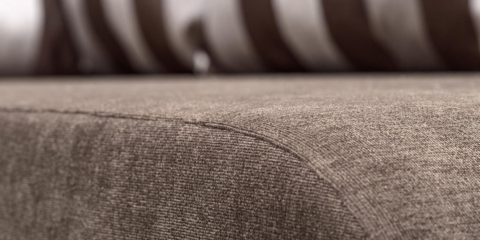Диван тканевый угловой Нью-Йорк Stripe коричневый (Ткань + Экокожа, левый) от HomeMe.ru