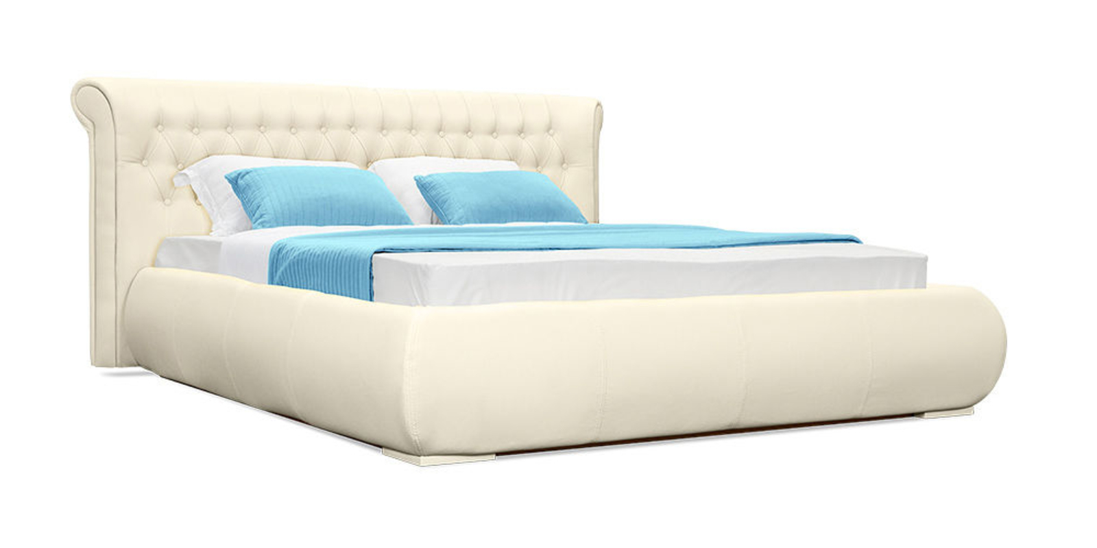 Кровать мягкая Вирджиния с подъемным механизмом (Бежевый)