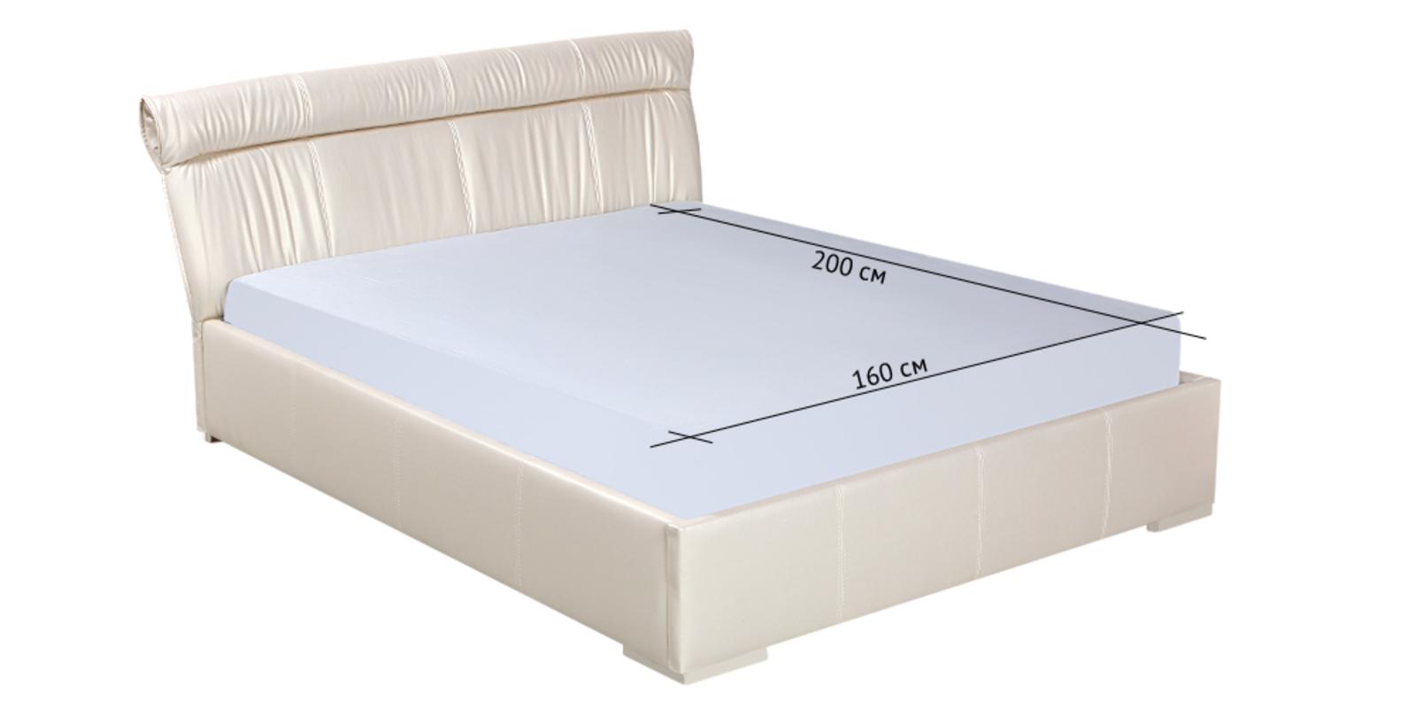 Кровать мягкая Монако с подъемным механизмом (Перламутр) от HomeMe.ru