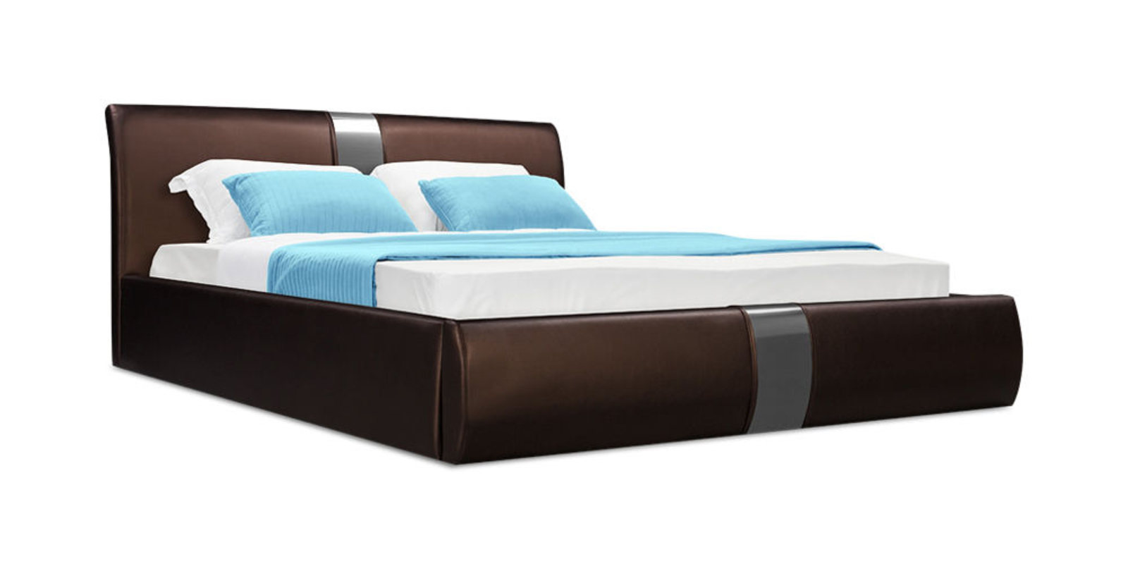 Кровать мягкая Флора с подъемным механизмом (Luxe шоколадный)