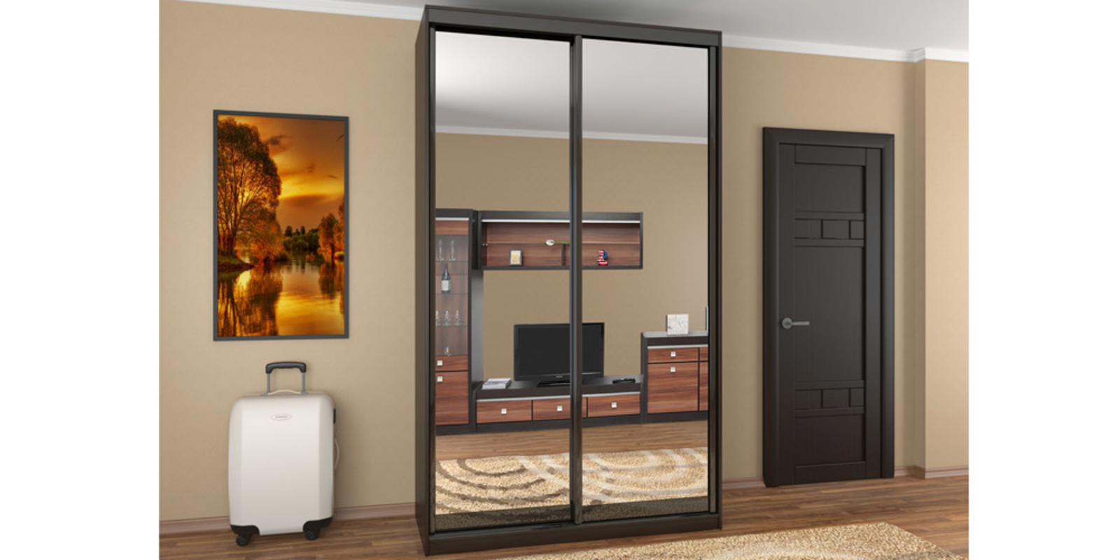 Шкаф с зеркалом (53 фото): выбираем изделия черного цвета с .