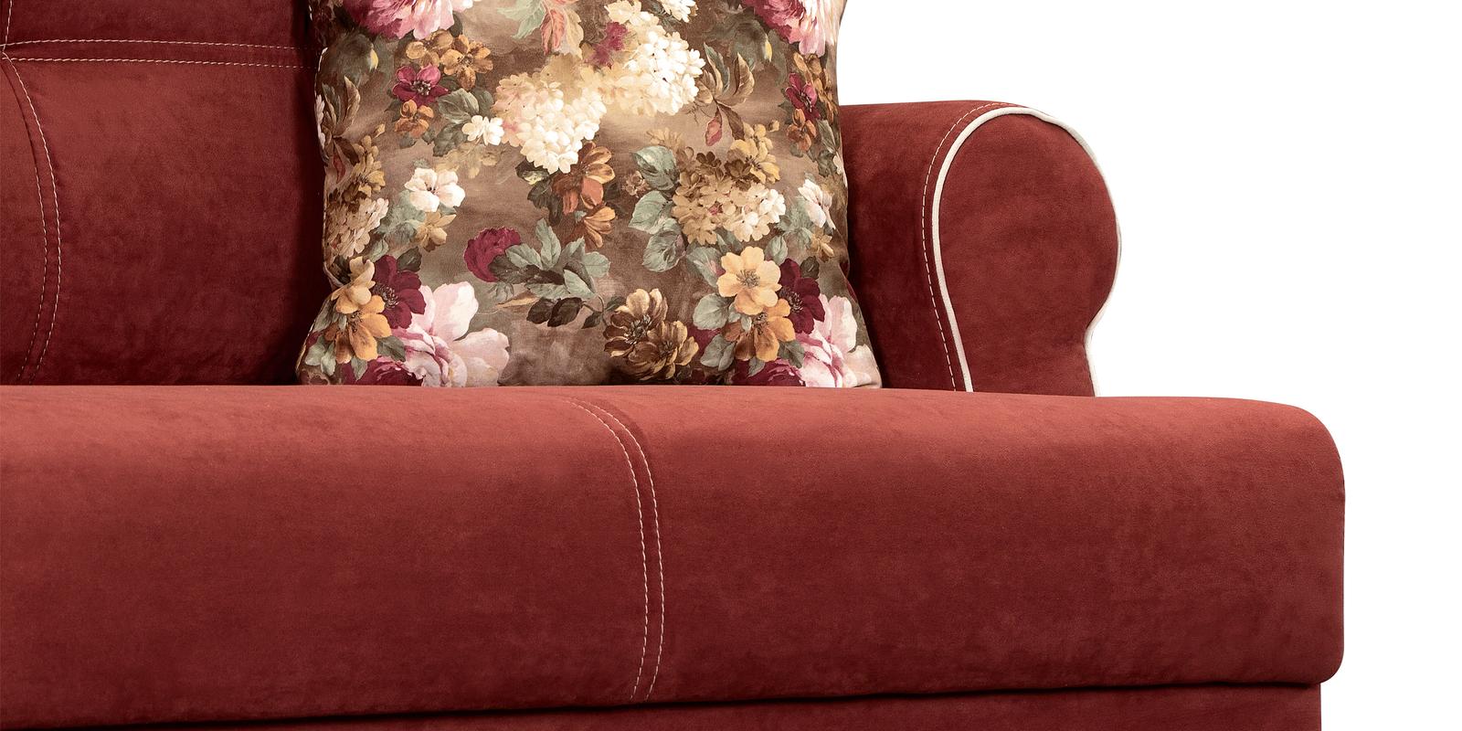 Диван тканевый прямой Мирта Velure красный (Ткань)