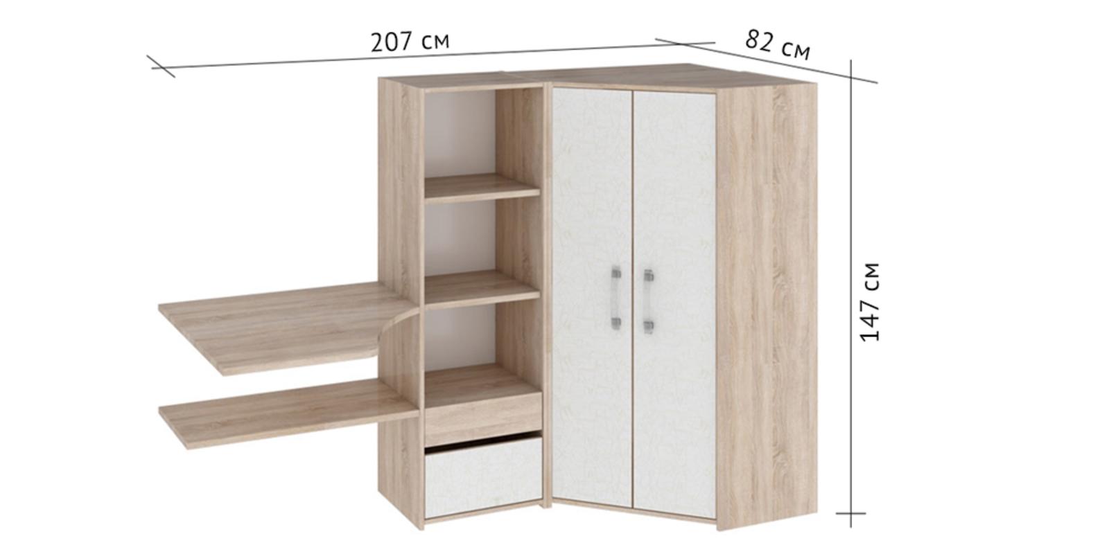 Шкаф распашной угловой HomeMe от HomeMe.ru