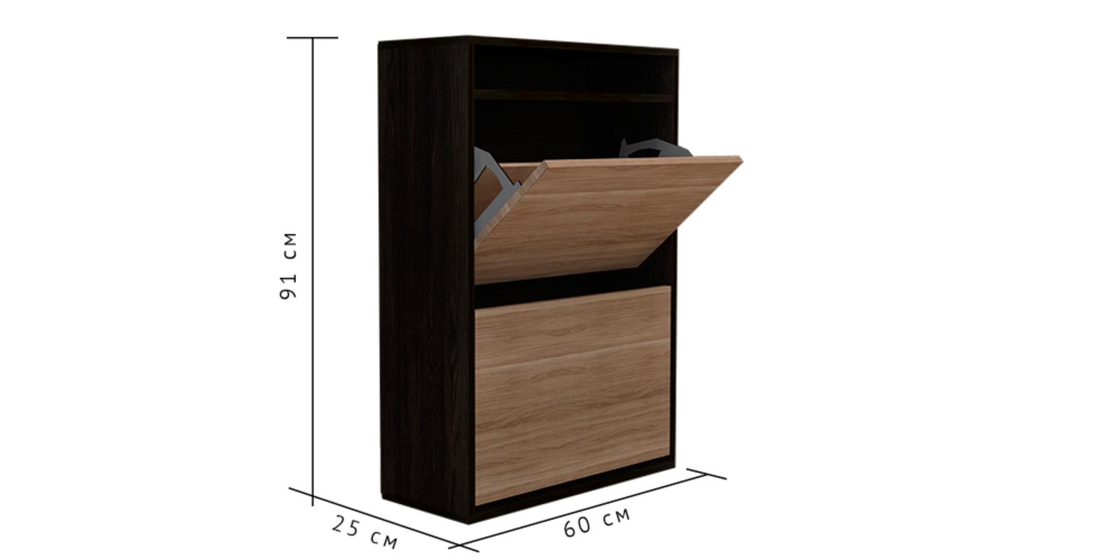 Тумба для обуви Ирис вариант №1 (кантер/сонома)