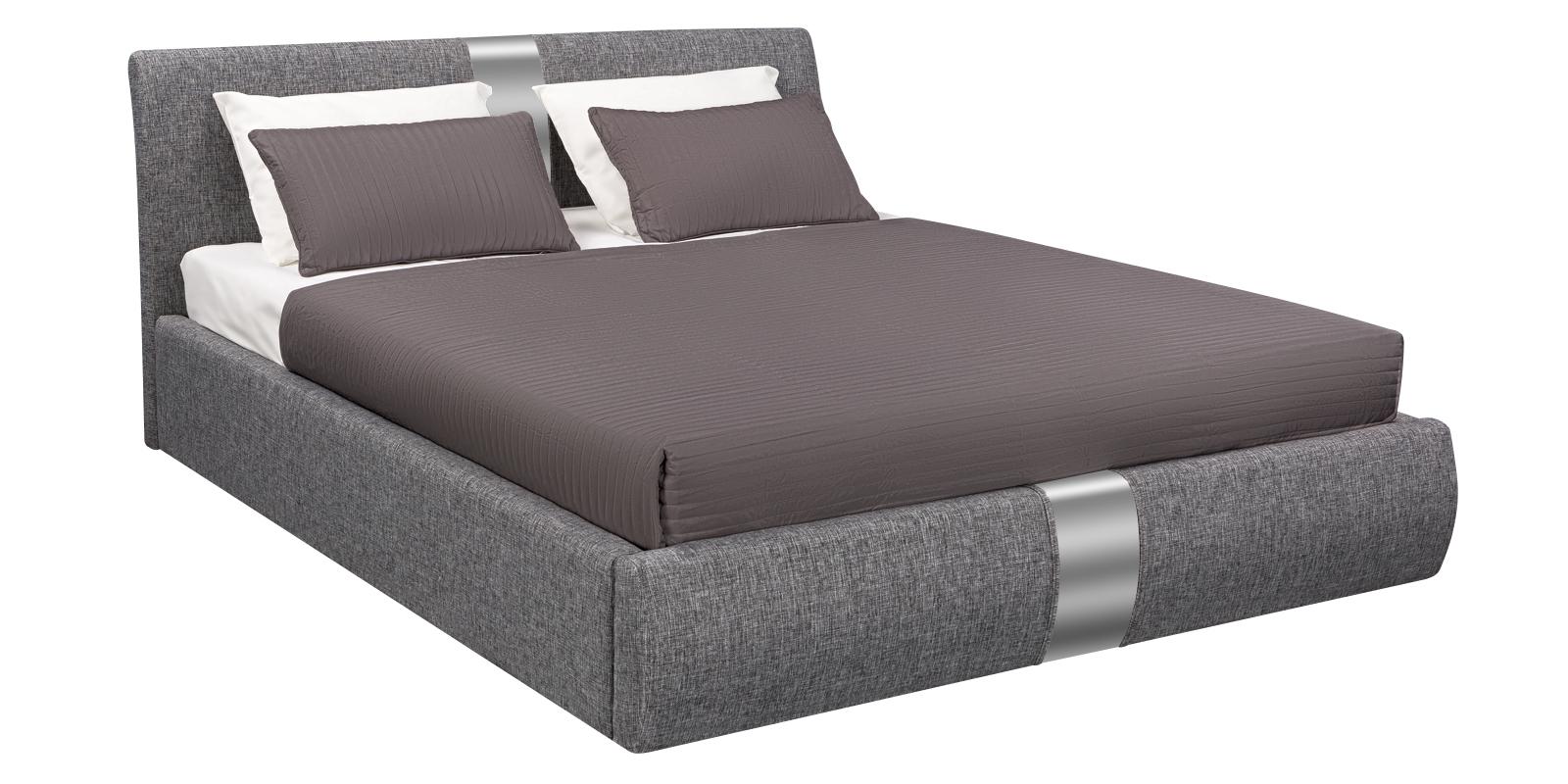 Кровать мягкая Флора с подъемным механизмом (Madagascar серый)