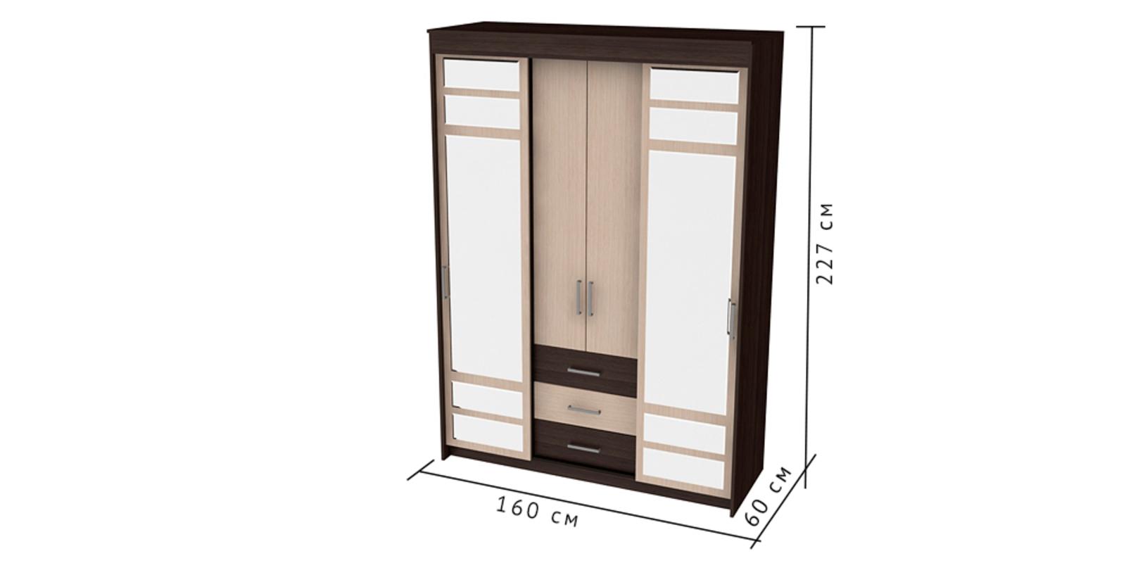 Шкаф распашной трехдверный HomeMe от HomeMe.ru