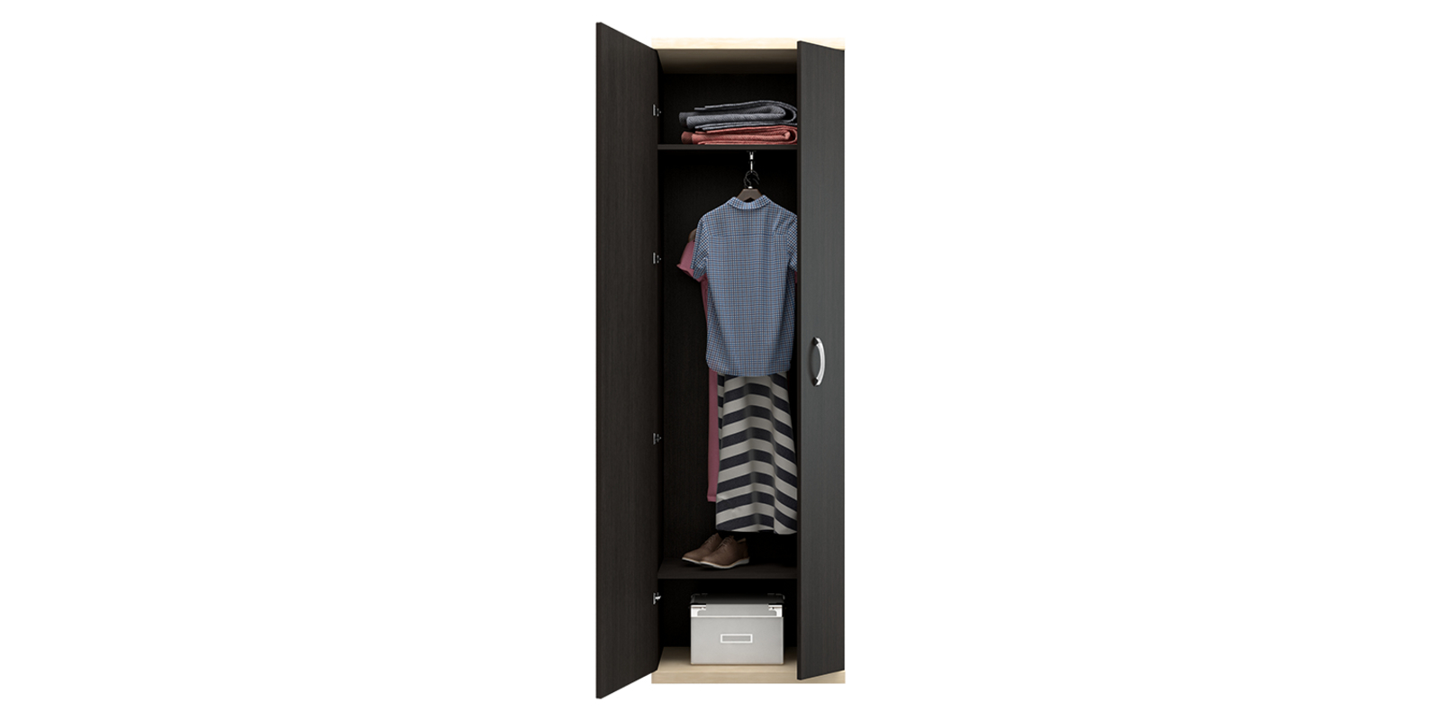 Шкаф распашной двухдверный HomeMe от HomeMe.ru