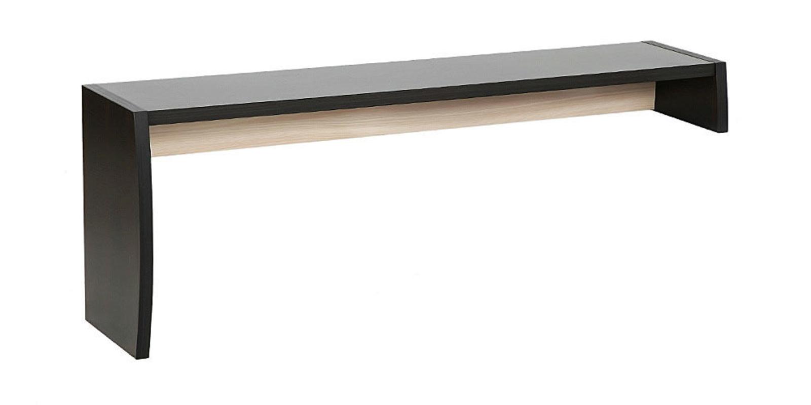 Надстройка для тумбы под ТВ Корсика угол левый (ясень глянец)