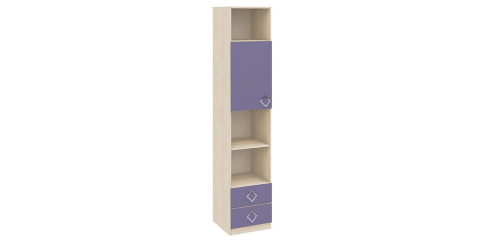 Шкаф распашной однодверный Салоу вариант №1 (каттхилт/лаванда)