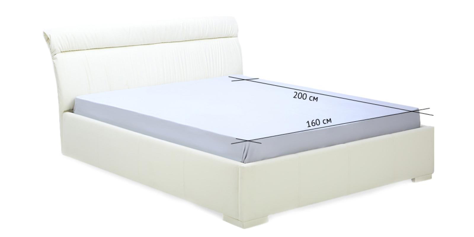 Кровать мягкая Монако с подъемным механизмом (Бежевый) от HomeMe.ru