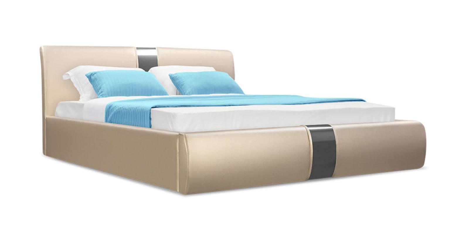 Кровать мягкая Флора c подъемным механизмом (Luxe золото)