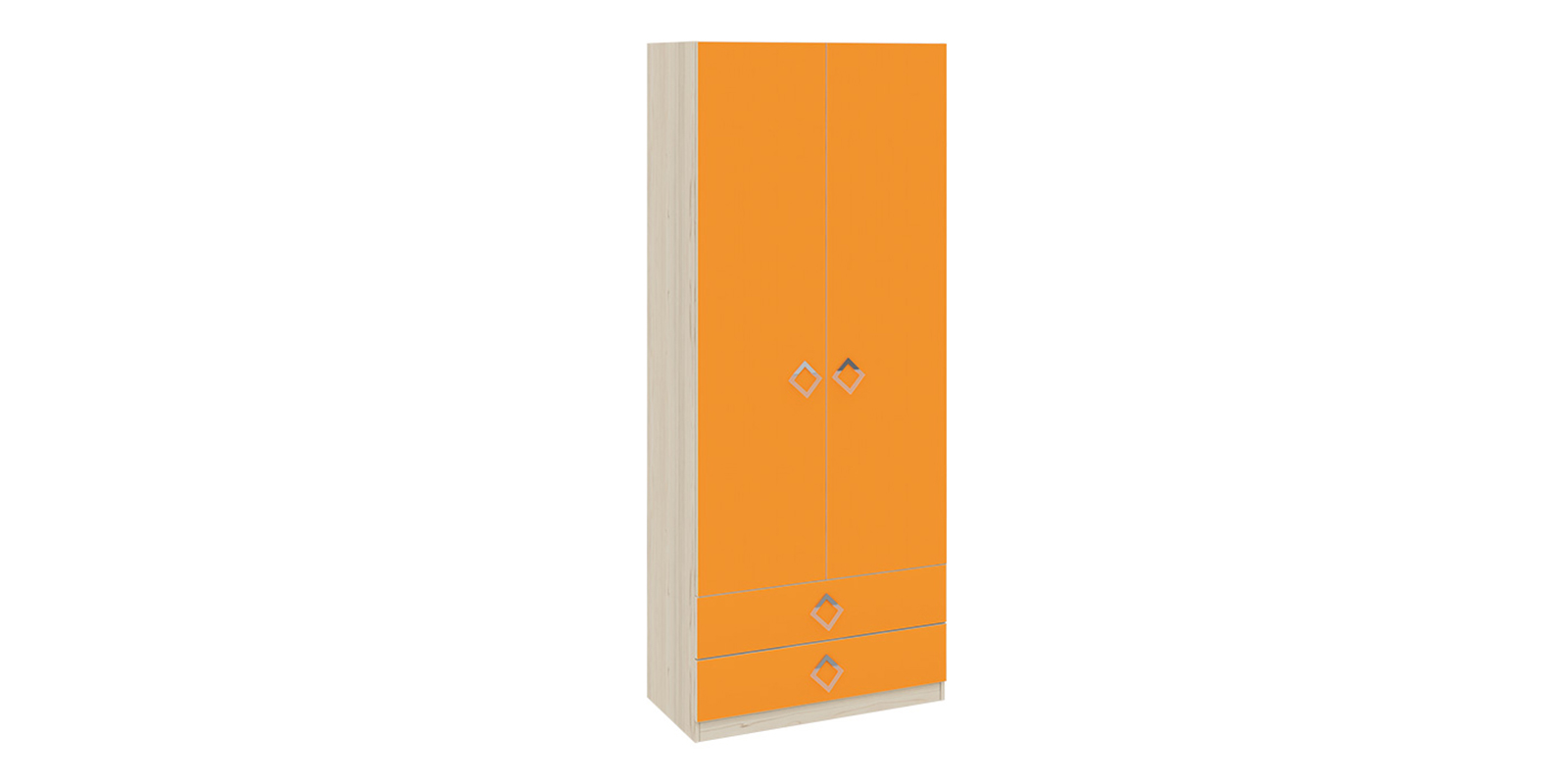 Шкаф распашной двухдверный Салоу (каттхилт/манго)