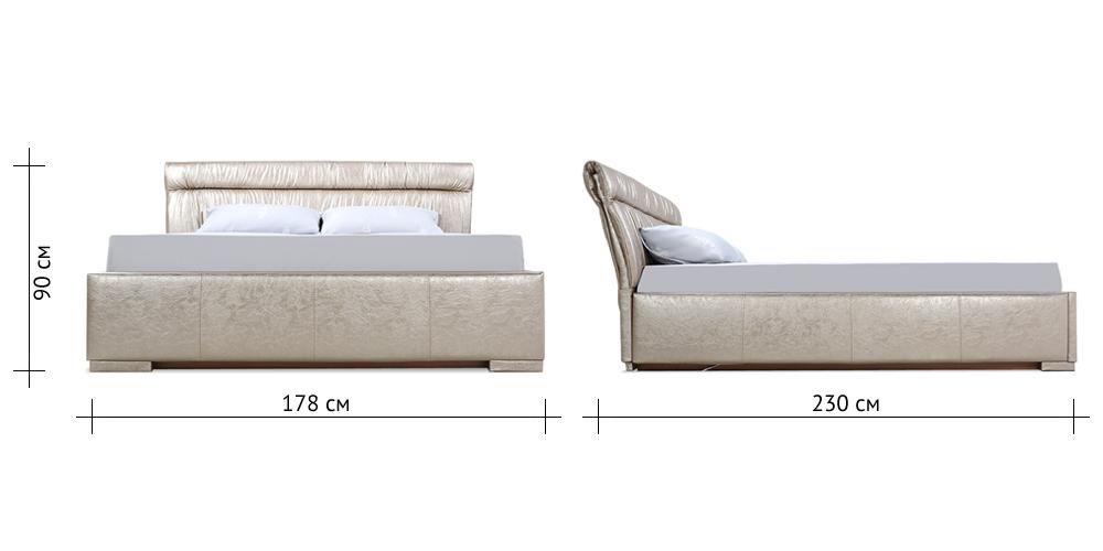 Кровать мягкая HomeMe от HomeMe.ru