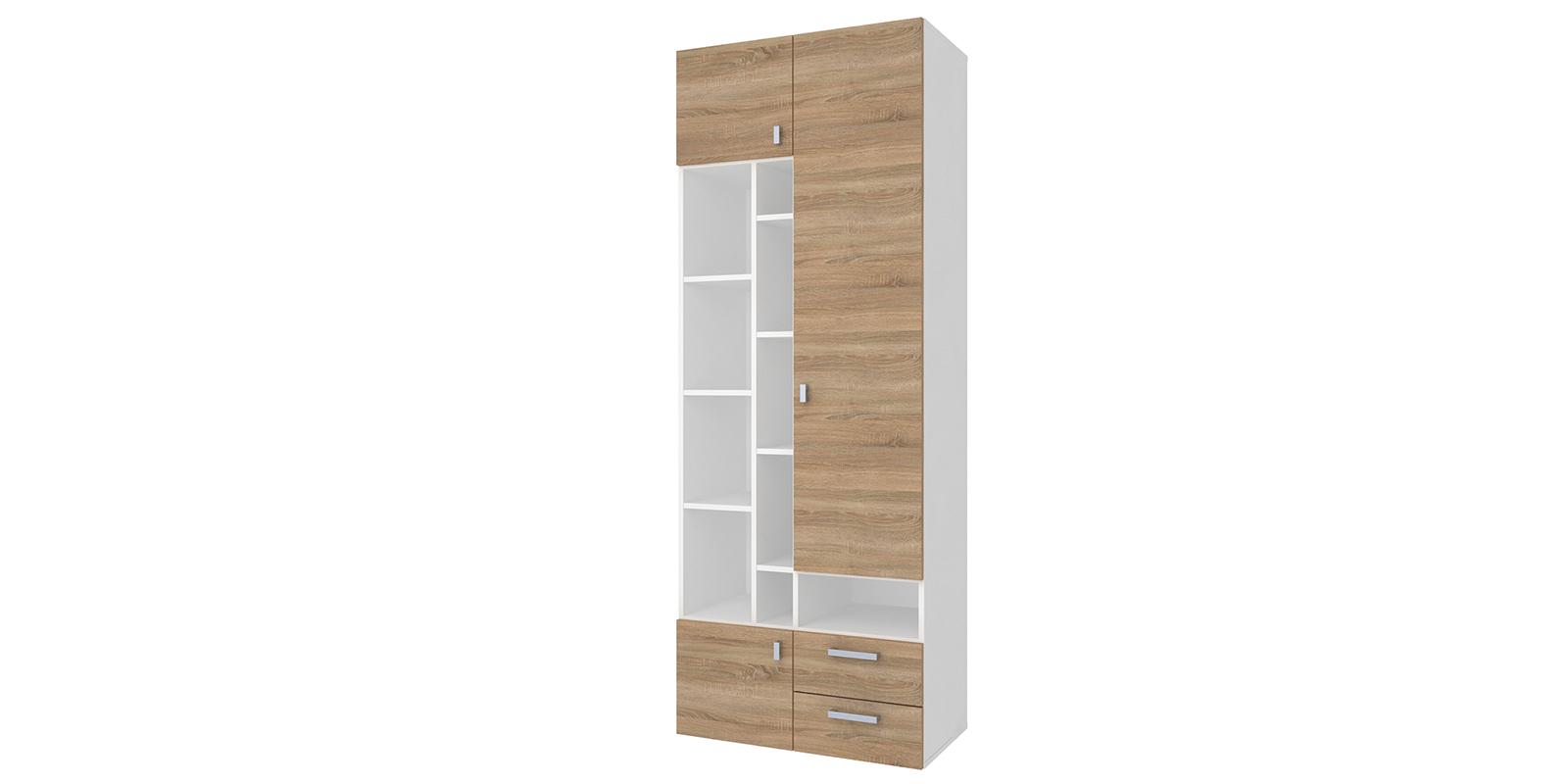 Шкаф распашной двухдверный Лакки (дуб сонома/белый)