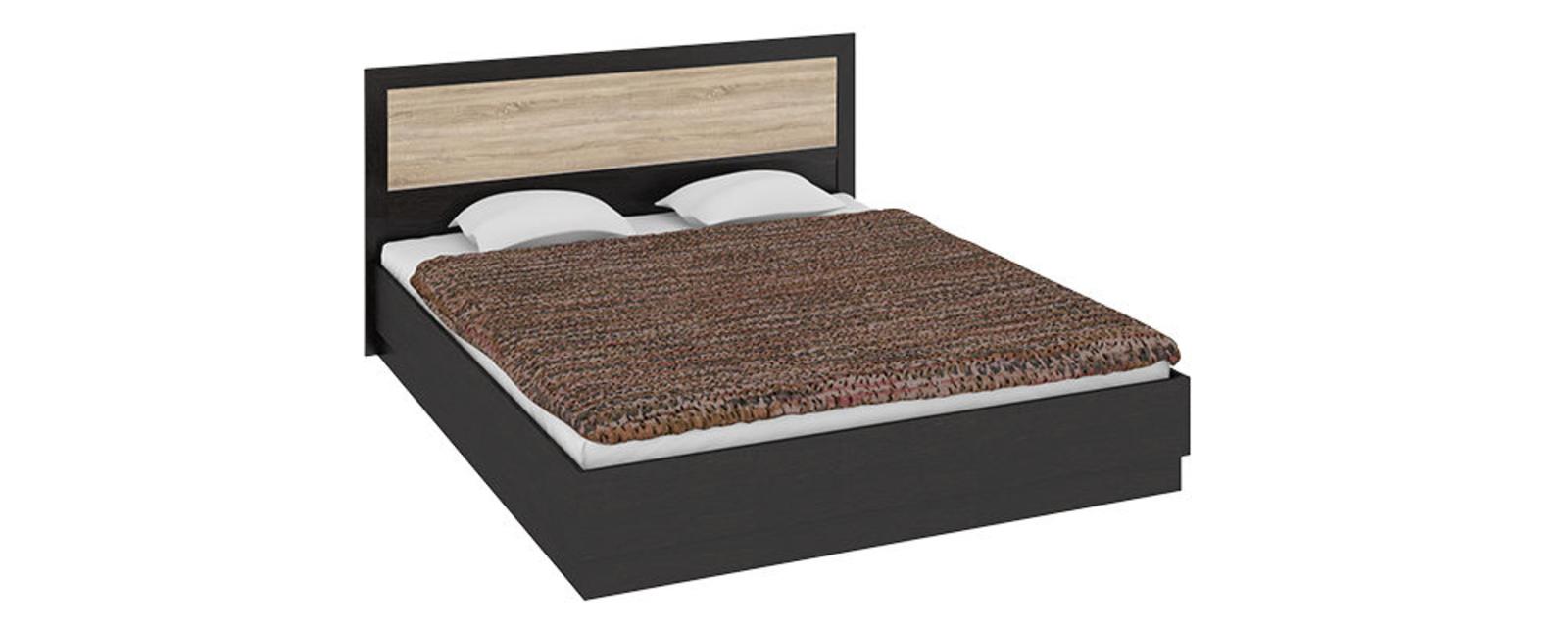 Кровать каркасная Дельта с подъемным механизмом (венге цаво/дуб сонома)