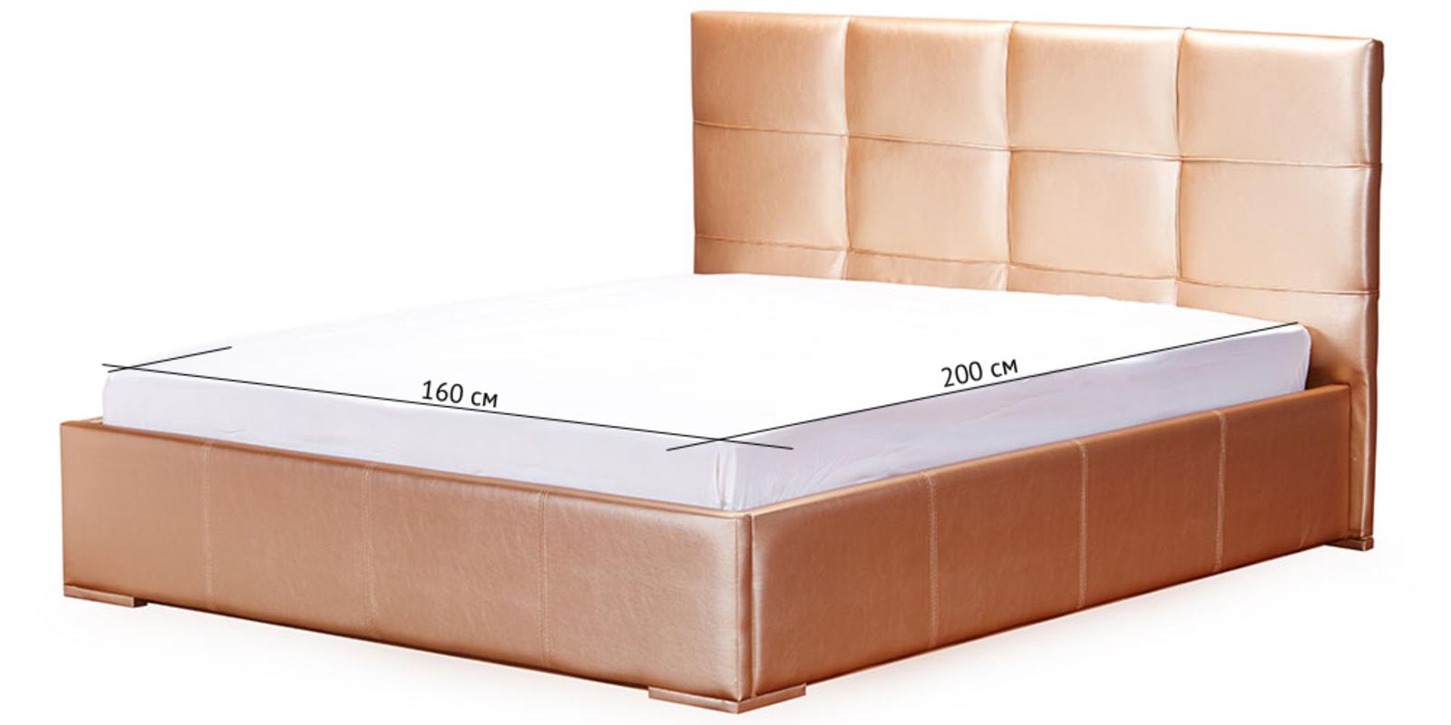 Кровать мягкая Лайф без подъемного механизма (Золото) от HomeMe.ru