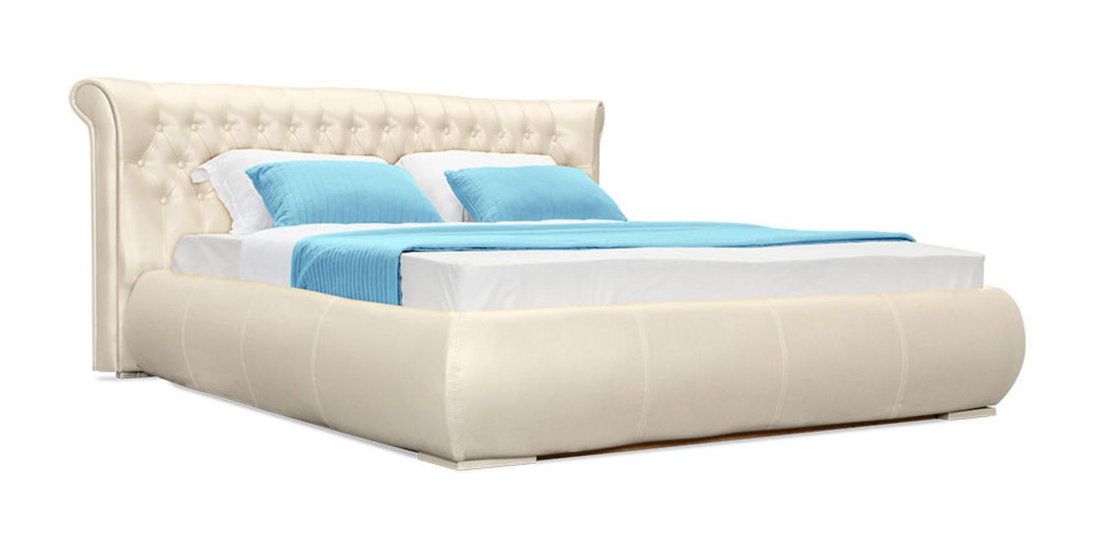 Кровать мягкая Вирджиния с подъемным механизмом (Перламутр)