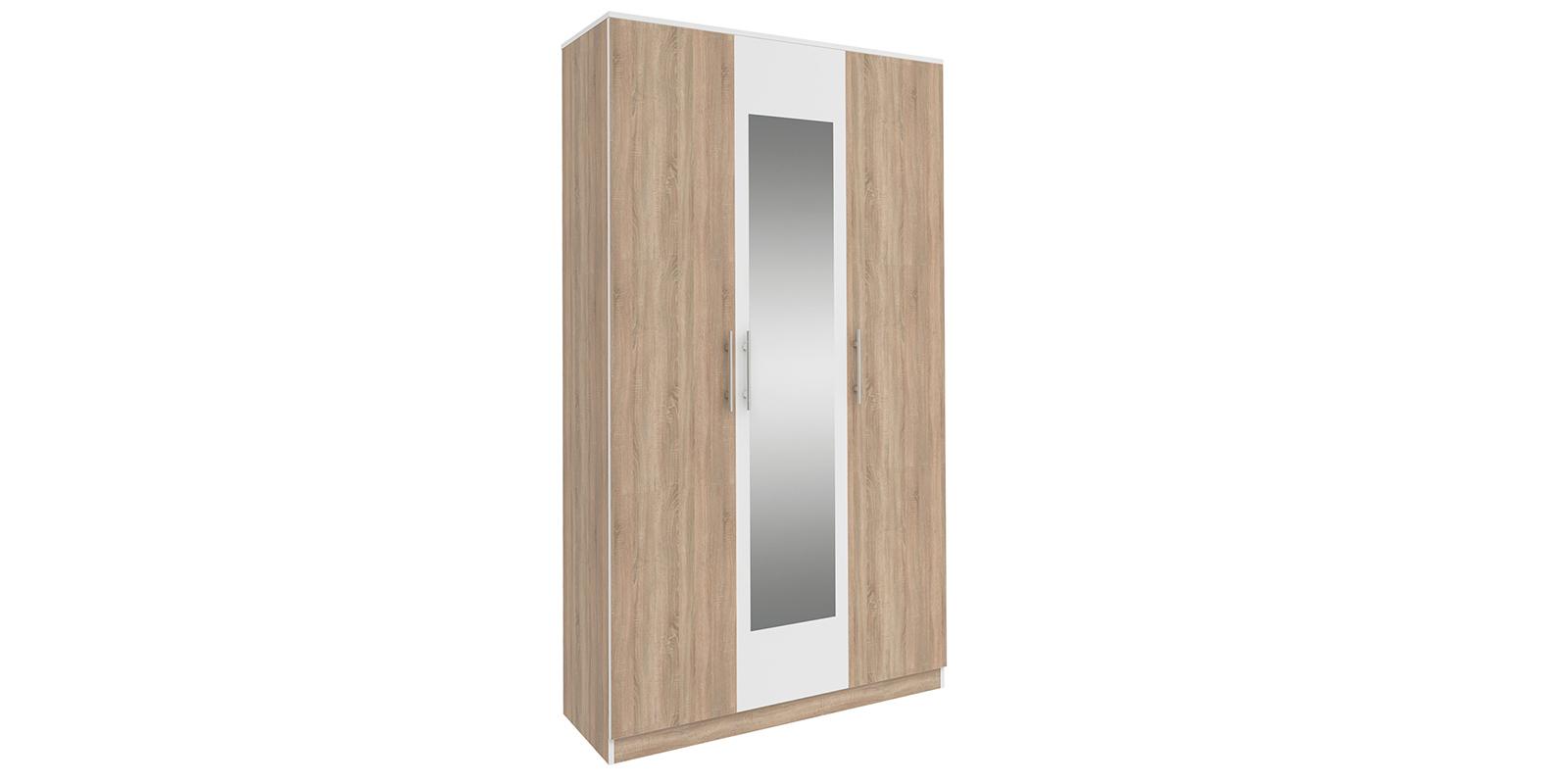 Шкаф распашной трехдверный Сиена (дуб сонома/белый)