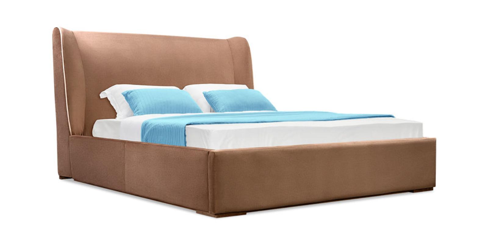 Кровать мягкая Марсель с подъемным механизмом (Velure коричневый)