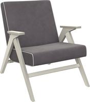 Кресло для отдыха Вест Дуб шампань, ткань Verona Antrazite Grey, кант Verona Light Grey