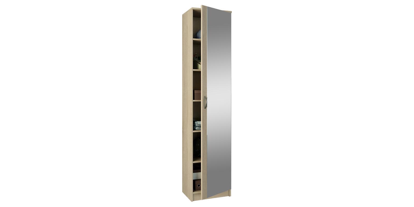 Шкаф распашной однодверный Хельга вариант №2 (дуб сонома)