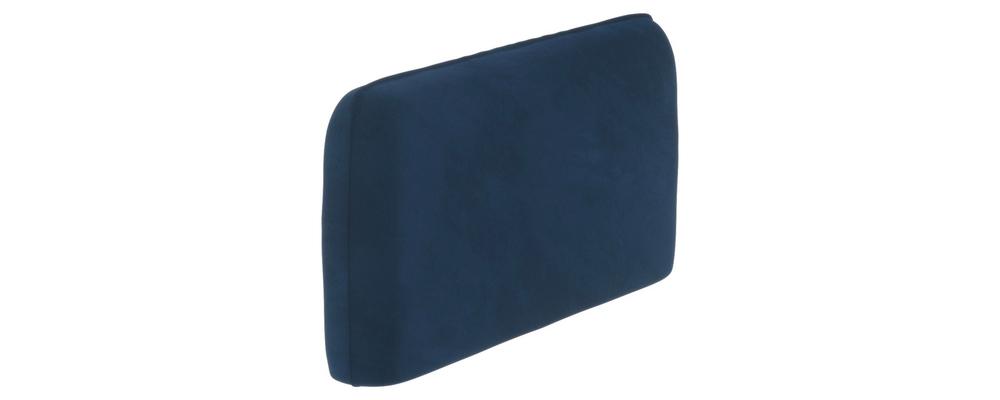 Подлокотник Портленд 128 см Soft тёмно-синий (Вел-флок, правый)