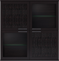 Полка 4 дверная (2 стеклодвери) Парма-Люкс