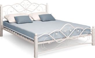 Кровать Венера 1/160*200/Металл/Белый/Белый/