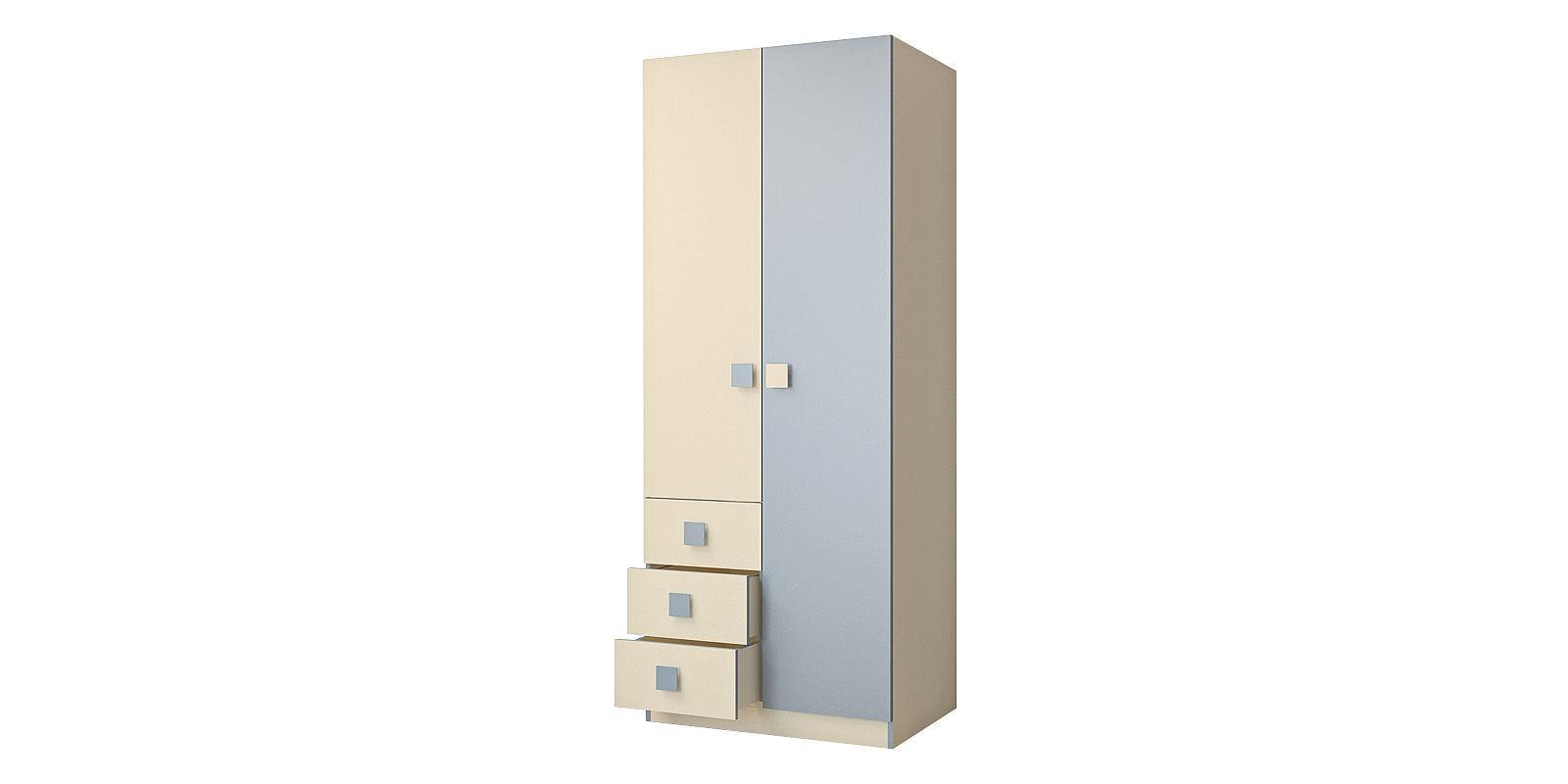 Шкаф распашной двухдверный Нова (бежевый/голубой)