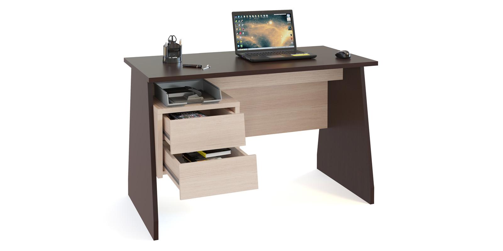 Стол компьютерный Савона (венге/беленый дуб)