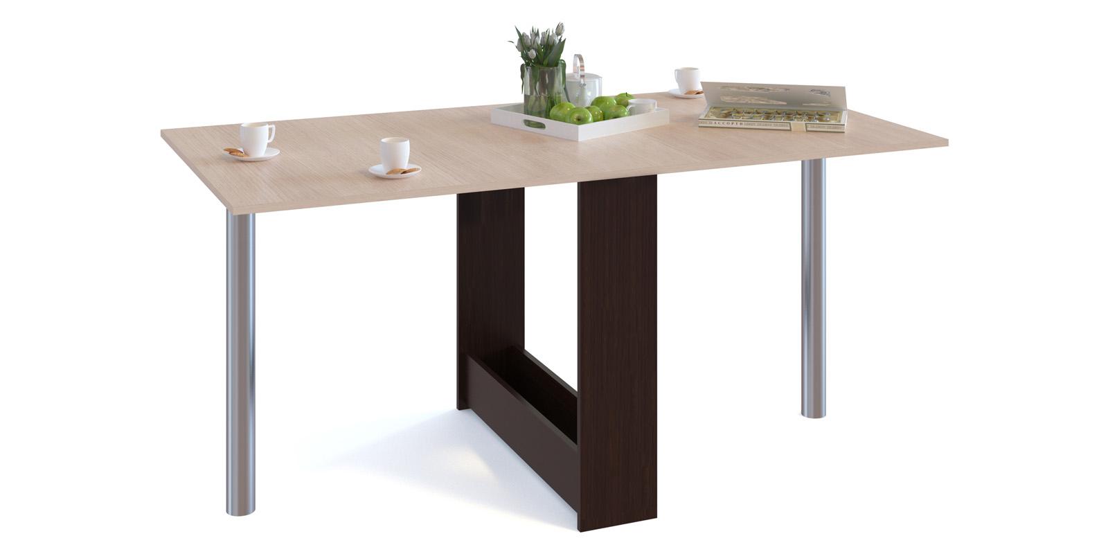 Обеденный стол Алмер (венге/беленый дуб)