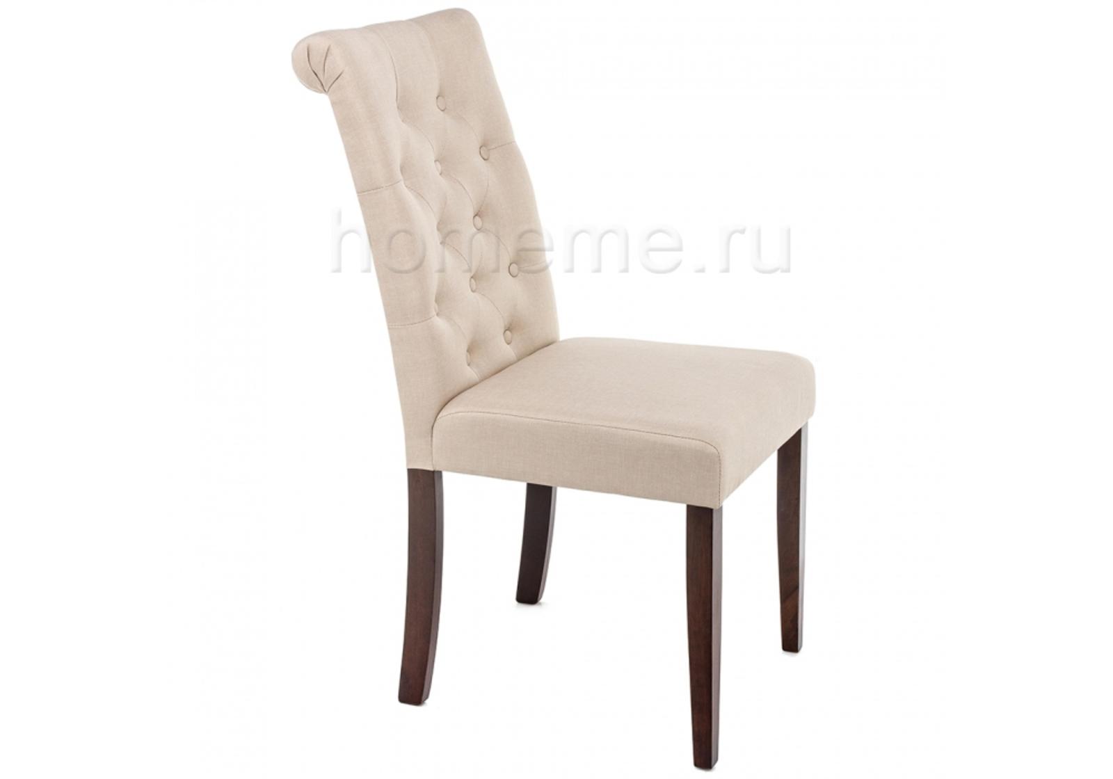 Стул HomeMe Amelia dark walnut / fabric cream 11017 от Homeme.ru