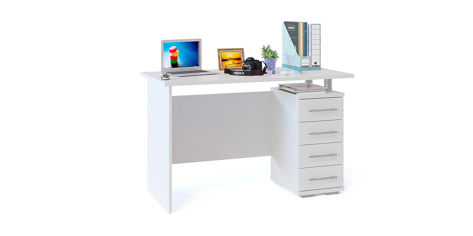 Стол компьютерный Сноу вариант №2 (белый)