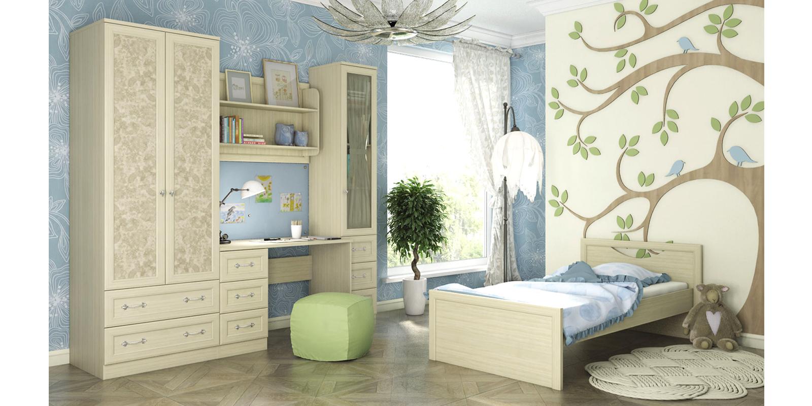 Модульная детская Дениз вариант №2 (дуб молочный/мейсен ваниль) от HomeMe.ru