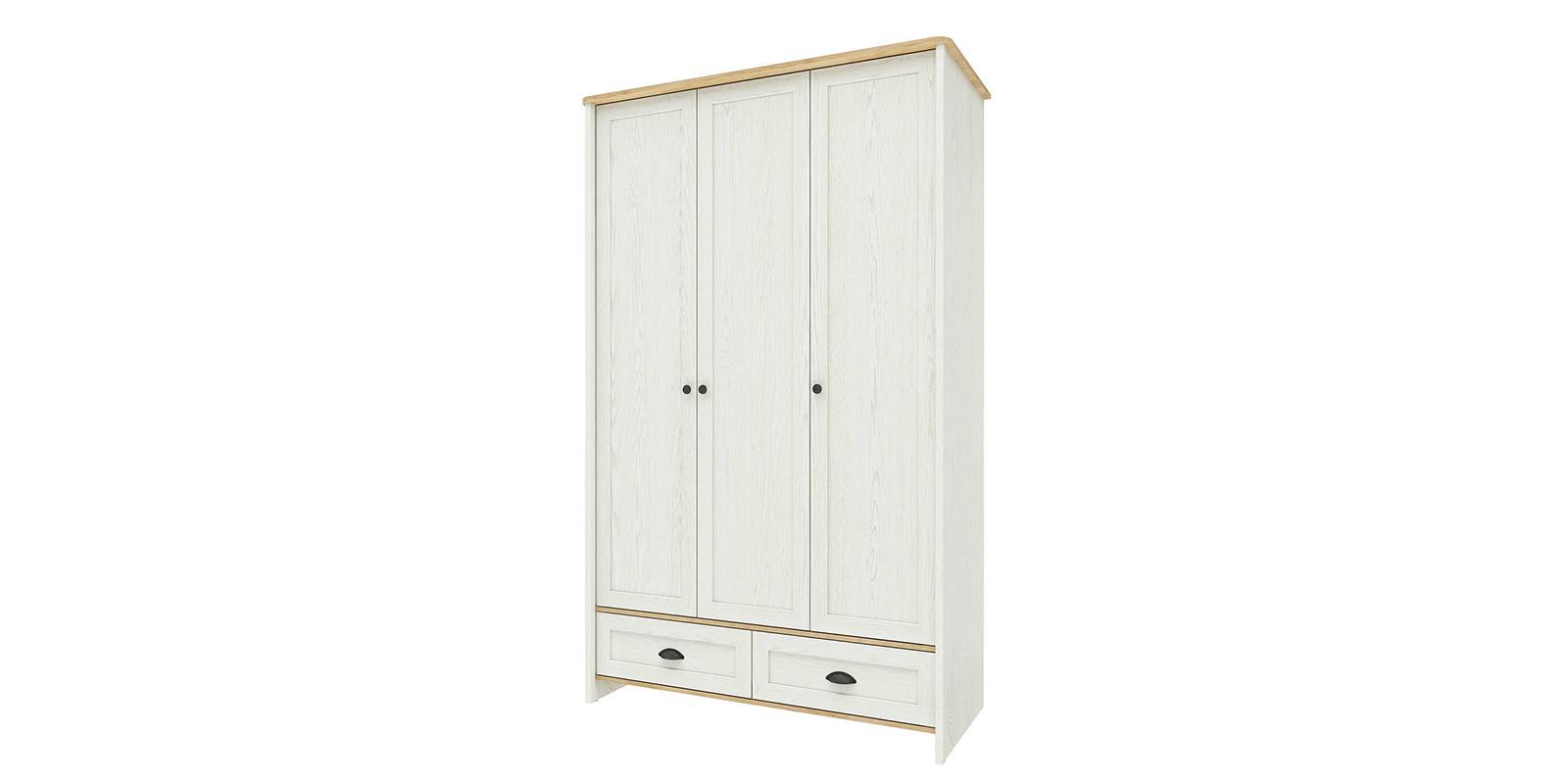 Шкаф распашной трехдверный Эстель (дуб небраска/белый) Эстель