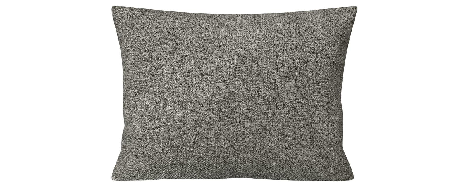 Декоративная подушка Портленд 60х48 см Nobilia серый (Рогожка) HomeMe