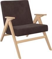 Кресло для отдыха Вест Натуральное дерево, ткань Verona Wenge, кант Verona Wenge