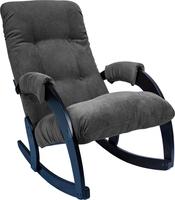 Кресло-качалка Модель 67 Венге, ткань Verona Antrazite Grey