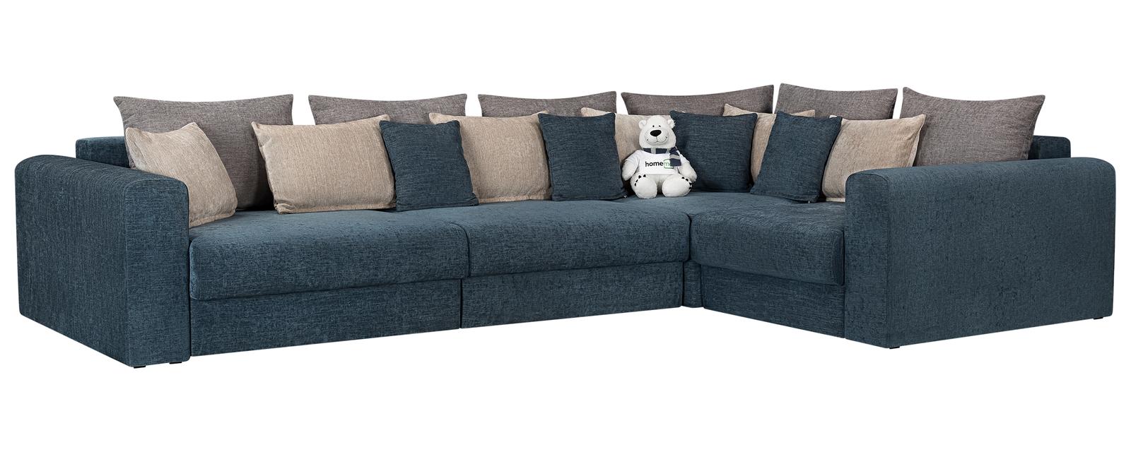 Модульный диван Медисон Вариант №2 Anabelle синий (Шенилл)