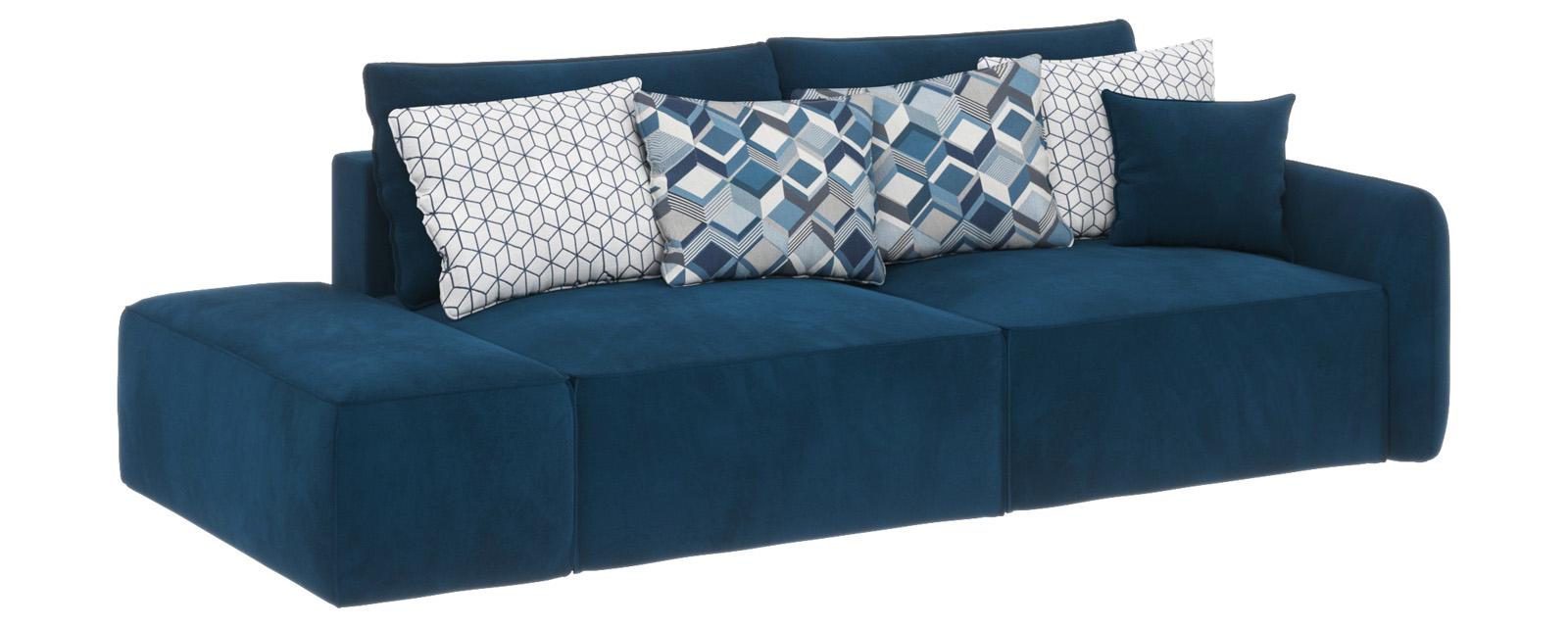 Купить Модульный диван Портленд вариант №2 Premier светло-синий (Микровелюр), HomeMe, Светло-синий
