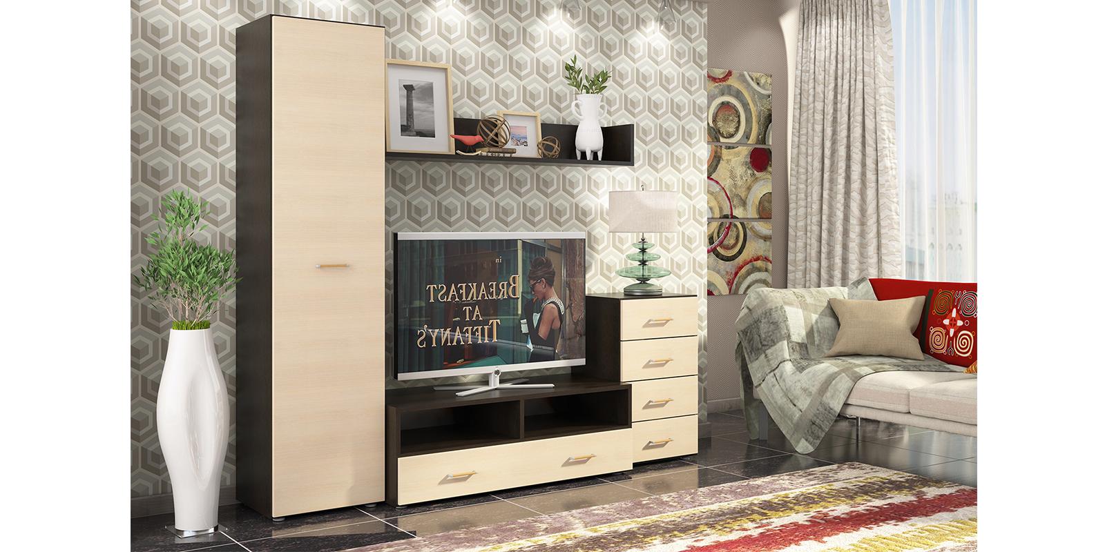 Модульная система Невада вариант №3 (дуб феррара/дуб кремона) от HomeMe.ru