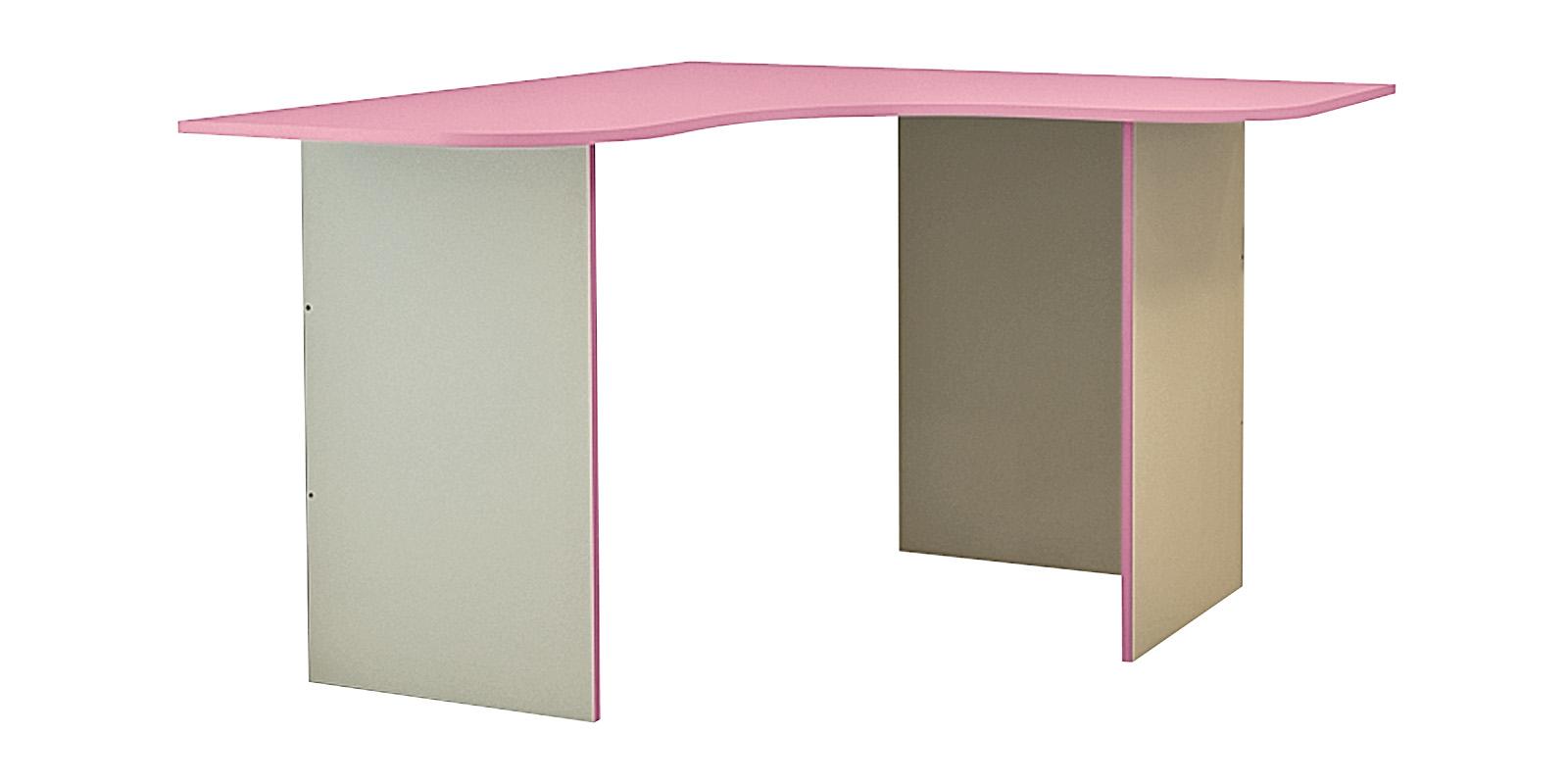 Стол письменный Нова угловой (бежевый/розовый)