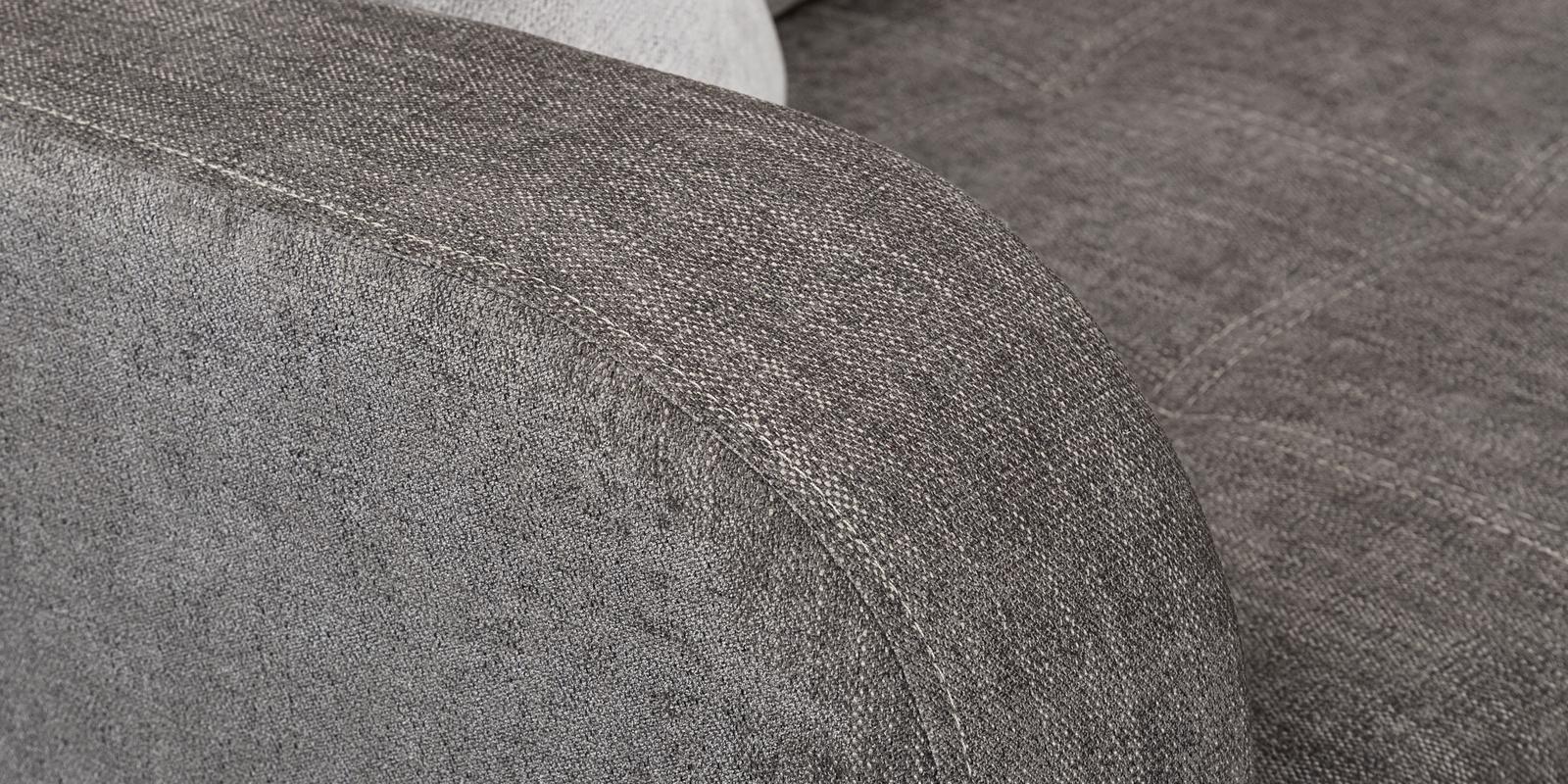 Диван тканевый угловой Ливерпуль Anabelle серый (Шенилл)