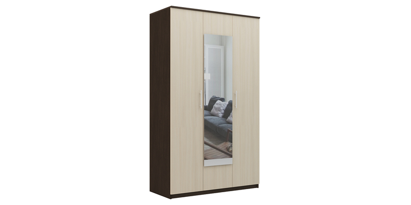 Шкаф распашной трехдверный Рига (венге/дуб молочный)