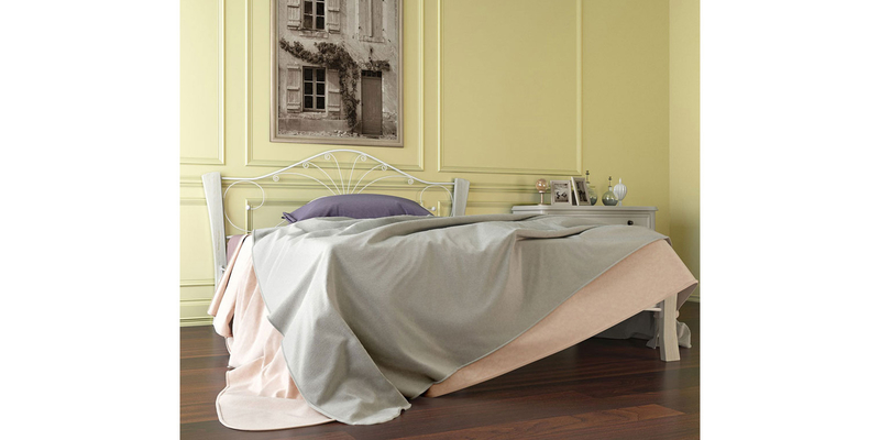 Металлическая кровать 160х200 Фортуна Лайт вариант №4 с ортопедическим основанием (белый/белый)