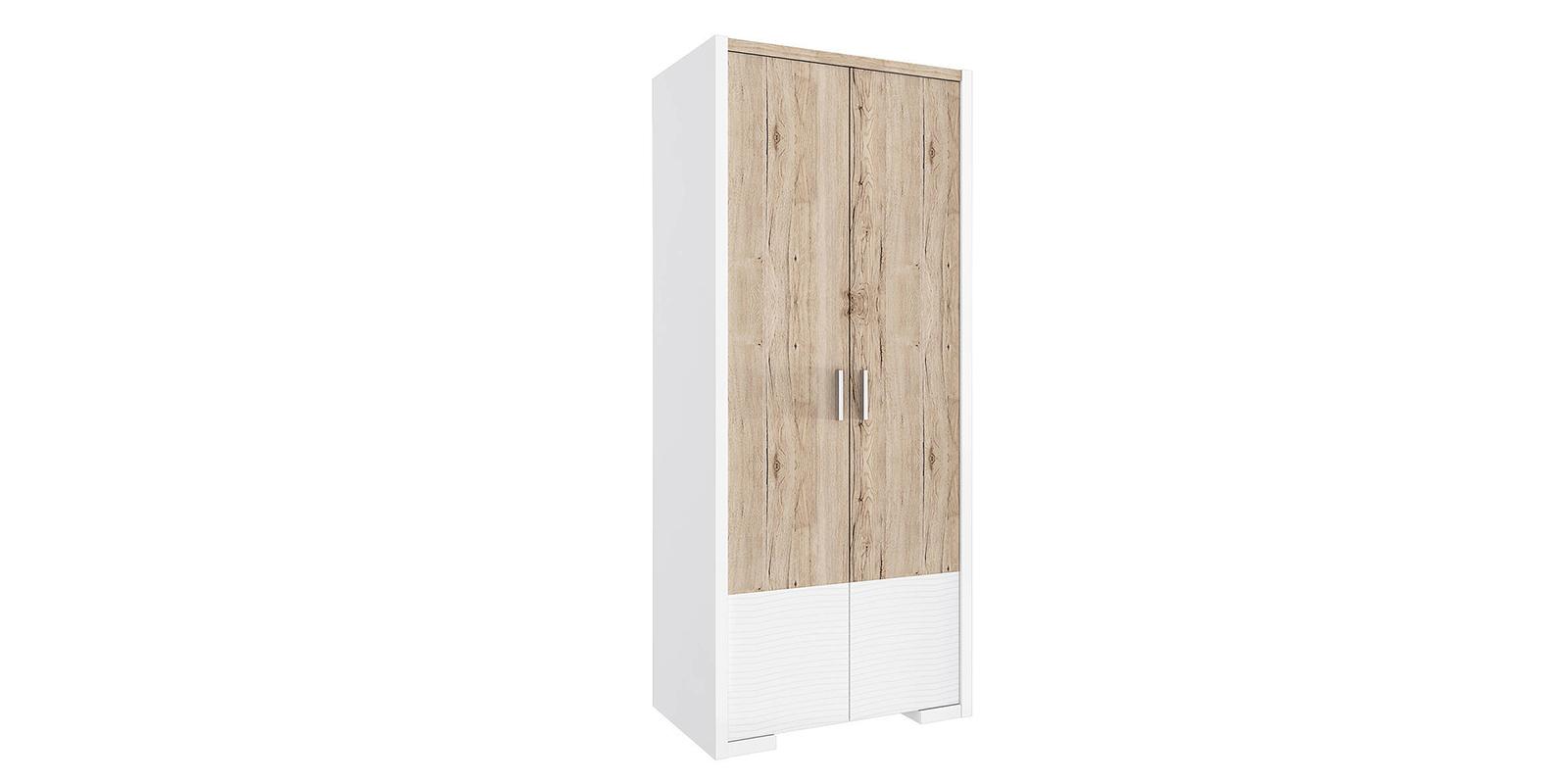 Шкаф распашной двухдверный Альмерия (дуб санремо/белый)