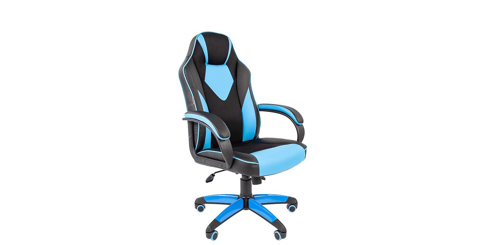 Игровое кресло Chairman game 17 (черный/голубой)