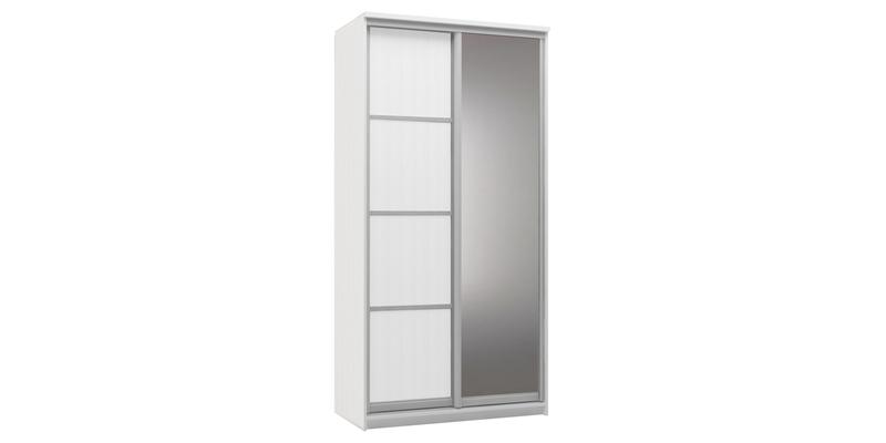 Шкаф-купе двухдверный Верона 120 см (белый/зеркало)
