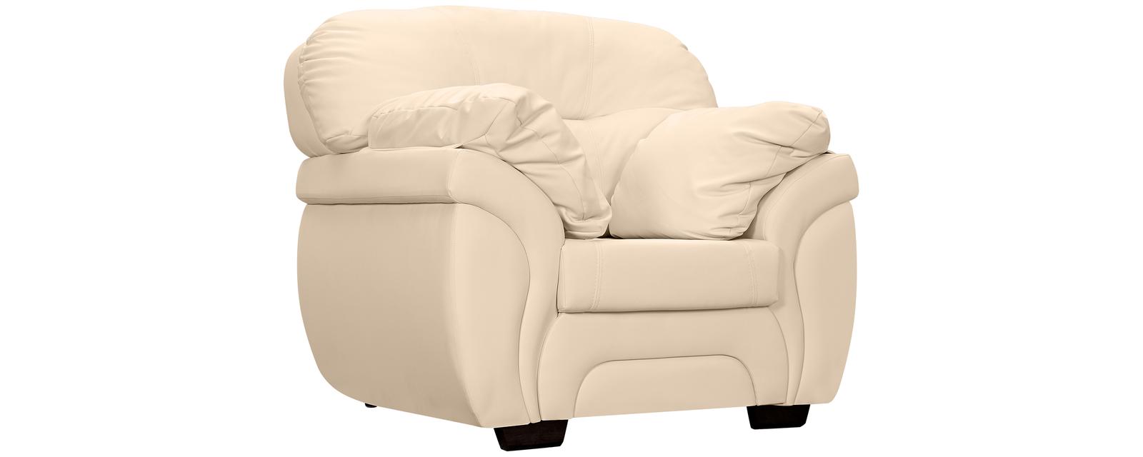 Кресло кожаное Бристоль Бежевый (Натуральная кожа)